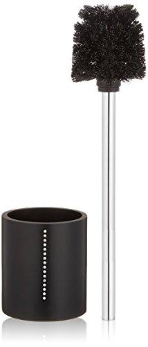 Wenko 18718100 WC-Garnitur Diamond schwarz - WC-Bürstenhalter, mit Strass-Steinen, 9,7 x 37,5 x 9,7 cm, schwarz
