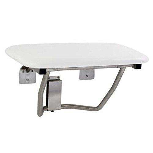 """Mustee 390.409 Fold Down Wall-Mount Padded Seat, 26"""", White"""