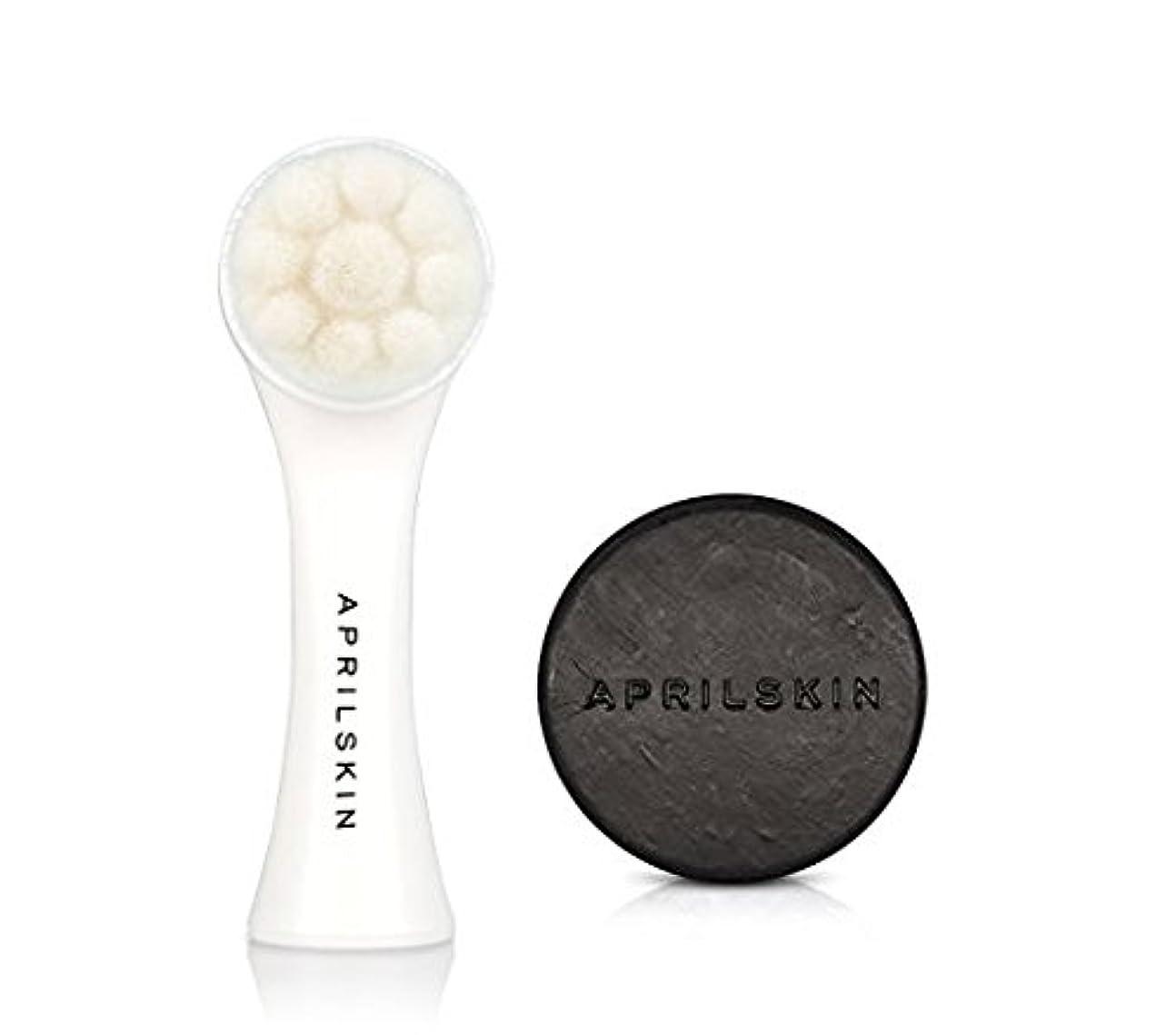フローグラフィック習慣APRILSKIN PORE CLEANER SET [エイプリルスキン国民石鹸BLACK + 毛穴ブラシSET] [April Skin Magic Stone Black + All Kill Pore Bursh Set] [並行輸入品]