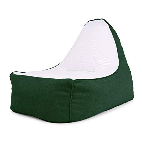 Lazy Sofa Floor Chair Comfortabele Single Rugleuning ligbank, balkon slaapkamer woonkamer zitzak dik zitkussen Multicolor Optioneel