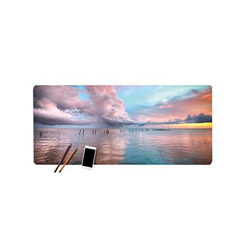 Mouse Pad Game Natural Landscape Large Game Thickening Student Laptop Office Gaming Keyboard Pad Table Mat Multi-size Office (Color : E, Size : 100cm*50cm*3mm)