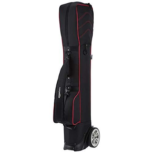 AmazonBasics Wheeled Golf Club Travel Bag - Red