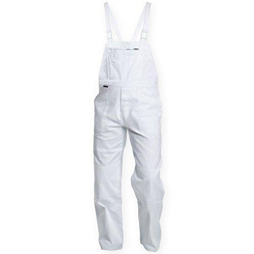 Charlie Barato® Malerhose - Latzhose weiß - Arbeitshose (54)