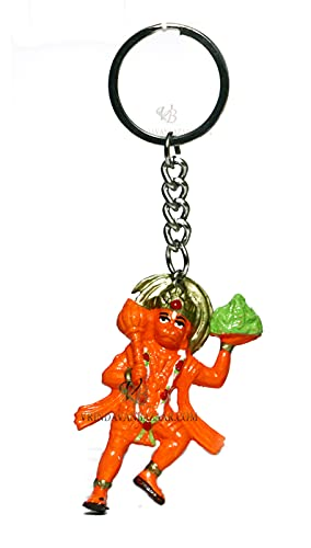 VRINDAVANBAZAAR.COM Lord Hanuman volando con llavero de montaña sanjeevani