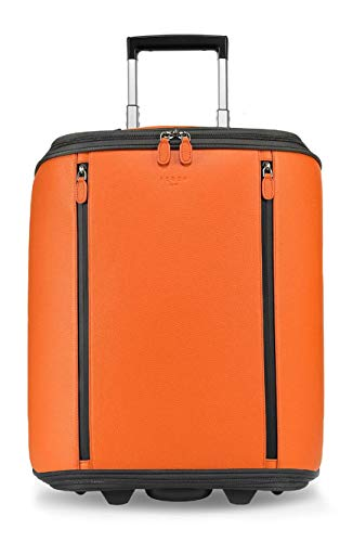 Fedon 1919 Marco Polo Cabin Trolley With 13 Laptop Compartment Mt1910110 Orange