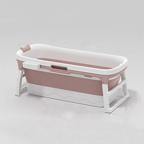 Baño Plegable, Adulto, baño Adulto, Ducha, plástico Plegable bañera Infantil, baño Privado para niños, 117 * 63 * 52cm,Rosado