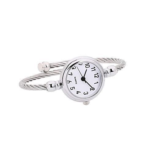 Coconano Reloj Hibrido, Reloj de Pulsera Con Espejo de Cristal y Reloj de Cuarzo Analógico Circular