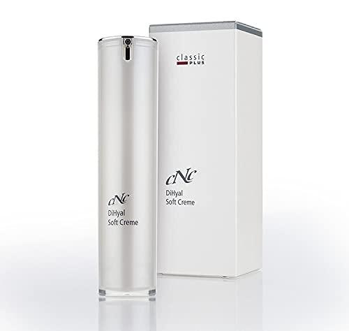 CNC cosmetic -DiHyal Soft Creme -classic PLUS- aufgepolsterte, glatte Haut, gleicht Lipidgehalt der Haut aus, mindert Wasserverlust - Hyaluronsäure, Shea Butter, Vitamin C &...