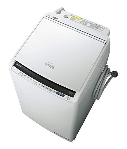 日立 タテ型洗濯乾燥機 ビートウォッシュ 洗濯8kg/洗濯~乾燥4.5kg 本体幅57cm BW-DV80E W ホワイト