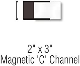 SmartSign Pack of 25 Magnetic 'C' Channel Label Holders | 2