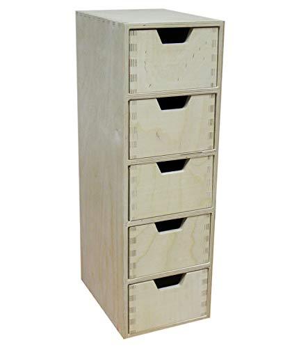 5 Lade Lange Plain Houten Opbergdoos Kast Kast met Laden Decoupage Pyrografie