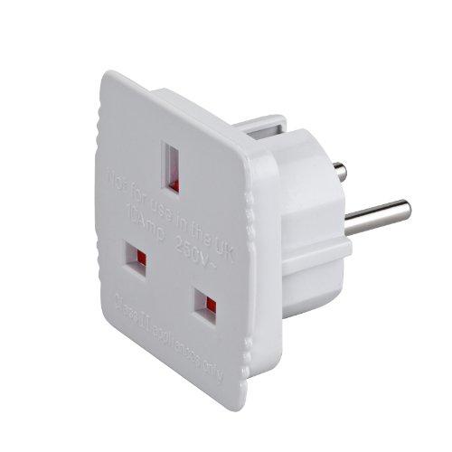 2-TECH Reisestecker-Adapter UK-Deutschland Weiss Hersteller