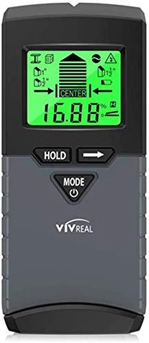 Ortungsgerät - Wand Leitungssucher Detektor automatische Kalibrierung 5-in-1 Multifunktions Wandscanner Digital LCD Display Sensor Kabelfinder Holz Stromleitung Metall Scanner Warnsignal Bohren