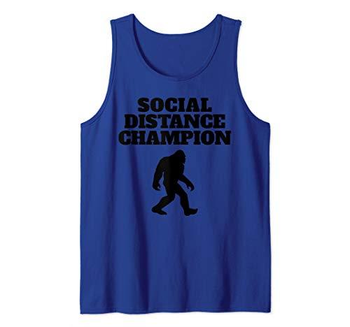 Bigfoot Social Distance Champion funny Bigfoot Tank Top