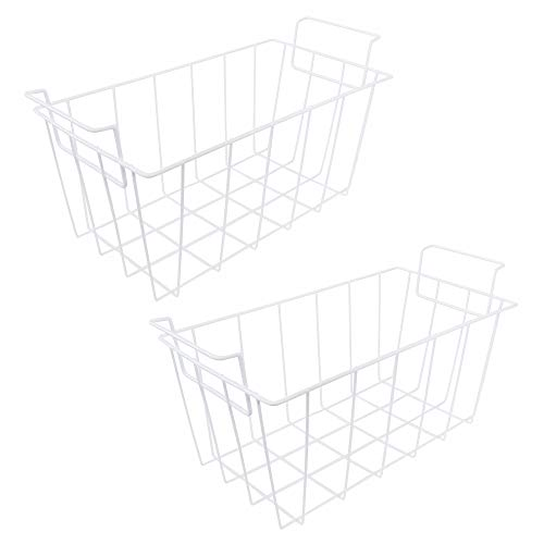 KITCHEN BASICS 101: WR21X10208 White Refrigerator Freezer Basket Replacement for GE and Haier RF-0300-29 (2 Pack)