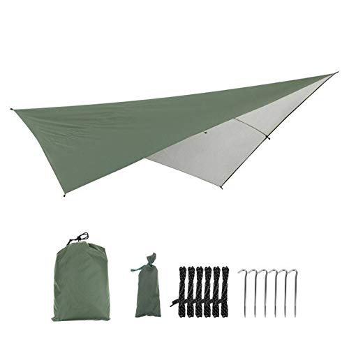 Mdsfe wasserdichte Anit-UV-Markise im Freien Multifunktionales Camping Picknick Strandmatte Markise Baldachin Gartenzelt Schatten Zelt 290 * 290cm-01, A2