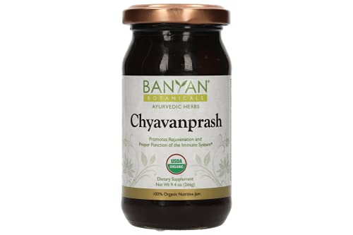 Banyan Botanicals Organic Chyavanprash (Chyawanprash) – Ayurvedic Herbal Jam with Amla & Ashwagandha – for The Immune System & Whole-Body Rejuvenation – 9.4oz – Non GMO Sustainably Sourced Vegetarian