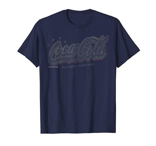 Coca-Cola Retro Groovy Rainbow Stars Camiseta