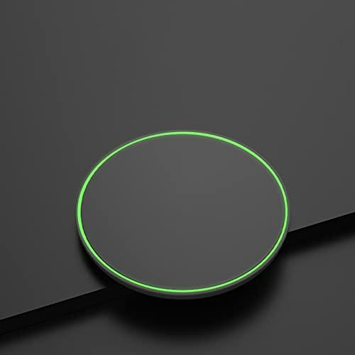 ZPEE Cargador Inalámbrico, Cargador Inalámbrico Qi15w Redondo Ultrafino, Adecuado para Cargar Varios Teléfonos Móviles
