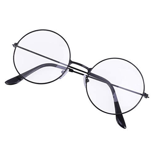 KESYOO Óculos Redondos Pretos Retrô Óculos Bloqueadores de Luz Azul Óculos Anti-Luz Azul Proteção Contra Luz Azul para Leitura de Jogos para Computador Óculos para Homens