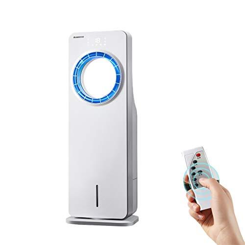 LZG Ventilador de enfriamiento sin aspas Aire Acondicionado oscilante con Control Remoto, humidificador de Agua Ventilador de Torre Vertical Enfriador evaporativo para la Oficina del Dormitorio