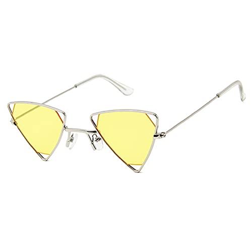 NBJSL Gafas De Sol Triangulares Pequeñas Para Hombres Y Mujeres (Caja De Embalaje Exquisita)