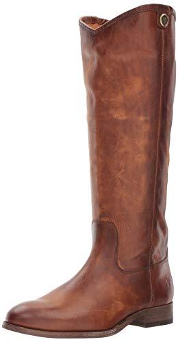 Frye Women's Melissa Button 2 Riding Boot, Cognac Extended Calf, 8