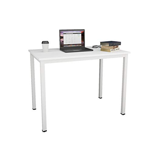 SogesHome Computer Desk 100 x 60 x 75 cm PC Desk Office Desk Workstation for Home Office Use Writing Table,Dinner Table Conference table,White AC3DW-100-SH