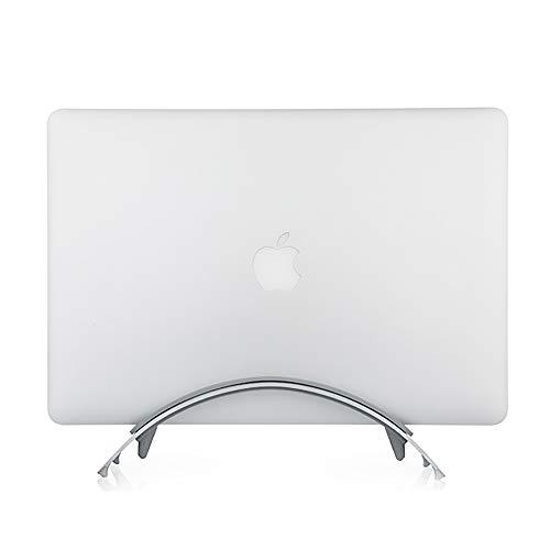 NBWS Soporte Vertical para MacBook Laptop Funda Soporte portátil con 3Soft Silicona realzar Repuestos para Apple MacBook Air Pro Retina