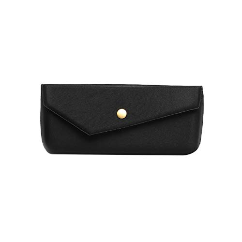 Demarkt Opvouwbare brillenkoker draagbare zonnebrilbox platte spiegelbox 16 * 6.5 * 6.5CM zwart