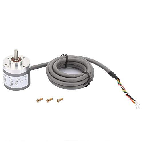 Codificador rotatorio incremental, codificador incremental de diámetro de eje de 7-30 V 6 x 12 mm, codificador rotatorio de 3 canales para accionamiento de motor, industria textil, almacenamiento