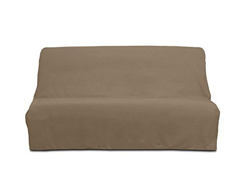 PANAMA cotton clic-clac sofa bed cover - taupe by Soleil d'Ocre