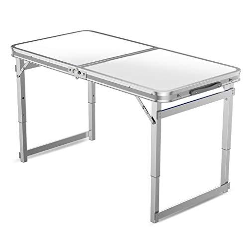 Draagbare outdoor klaptafel resistente extra rechthoekige eenvoudige home vouwbureau ezel picknicktafel camping/barbecue banket/party/markt/tuin (kleur: houtnerf + klapstoel * 2)