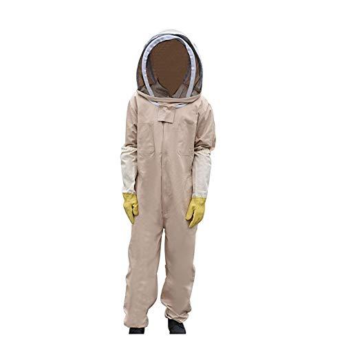 AISENPARTS Tuta da apicoltore Velo Cappuccio Cappello Abbigliamento Mantenere le api Costume Attrezzatura per apicoltori principianti professionisti (L)