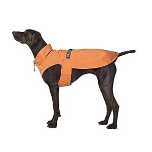 Canada Pooch | Expedition Dog Raincoat | Water-Resistant Pullover Dog Vest | Orange