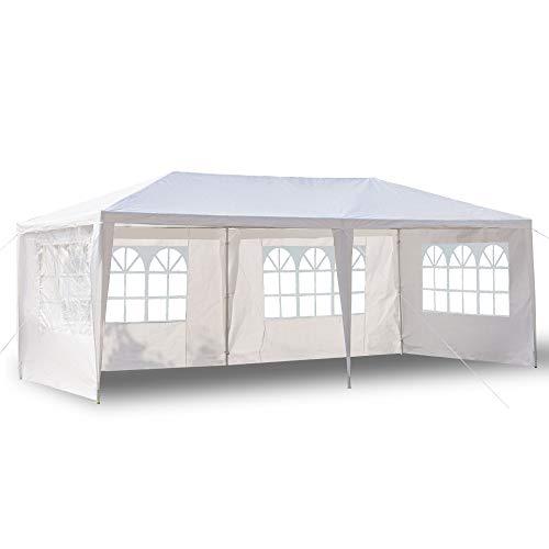 Pavillon 3x6m Wasserdicht Gartenpavillon, Stabiles Partyzelt hochwertiges Partyzelt mit 4 Seitenteile für Garten Party Familientreffen (3x6)