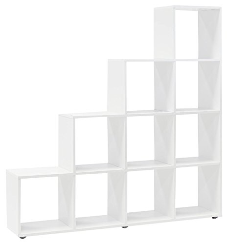 WILMES Regal, Raumteiler, Holzwerkstoff, Beton dekor melamin, 138.5 x 29 x 142.5 cm