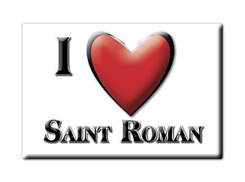 Enjoymagnets Saint Roman (26) Souvenir IMANES DE Nevera Francia Corse IMAN Fridge Magnet Corazon I Love
