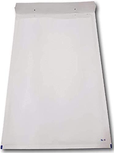 20 Enveloppes a Bulles blanche PRO k/10 370 x 480 mm intérieur type k10 enveloppe matelassé blanc 370 x 480 + 50 mm extérieur pochette protection d'envoi expédition grand format A3 enveloppe ENVB10B