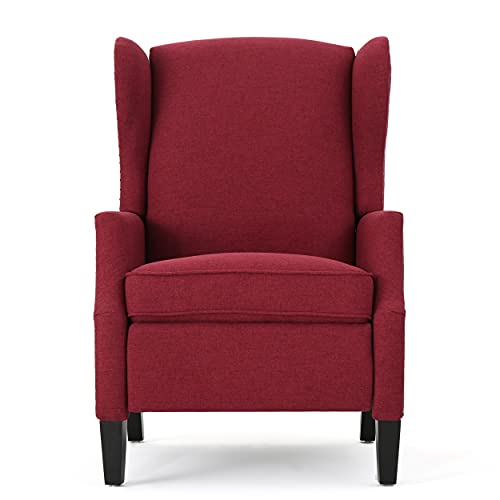 Christopher Knight Home Wescott Traditional Fabric Recliner, Deep Red