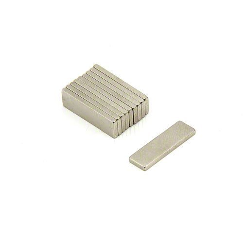 Magneet Expert® 20 x 6 x 1,5 mm dik N42 Neodymium magneet - 1,6 kg trekken (10 stuks)