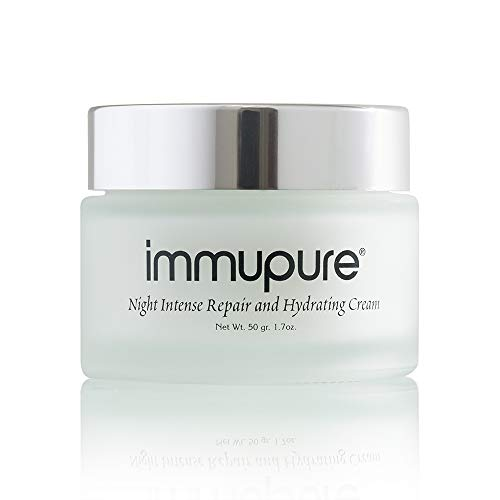 Immupure Night Intense Repair and Hydrating Cream - With 15% Colostrum. Helps to Reduce Scaring, Acne, Rosacea & Psoriasis.