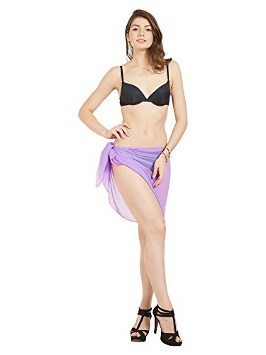Elina fashion Women's Sexy Bikini Swimsuit BeachWrap Cover up Summer Pareo Canga Swimwear (Lavender)