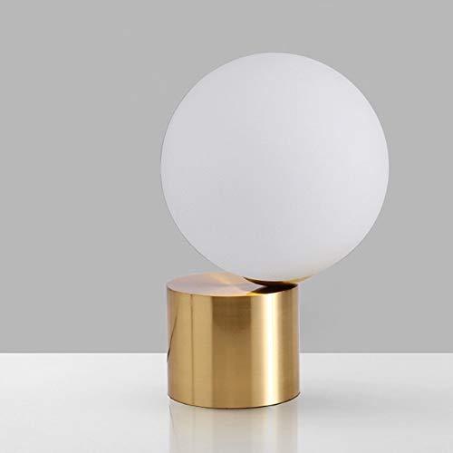 Yangmanini Lámpara De Mesita De Noche Minimalista Nórdica De Cristal De Estilo Moderno Lámpara De Mesa Decorativa Creativa De Bola