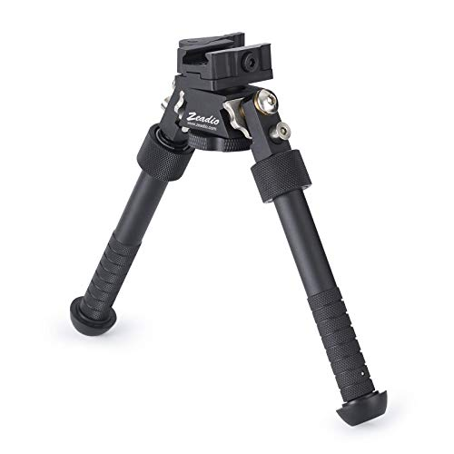 Zeadio Swivel Tiltable Quick Release Bipod, 6 to 9 Inches - Black