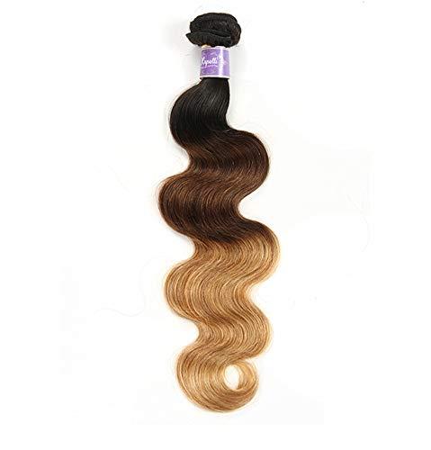 Perruque étendue Vrais Cheveux Brésiliens Perruque Femme Fashion 18-24 Pouces Peuvent être Teints Pas De Perte De Cheveux Pas De Nouage Dégradé Brun D