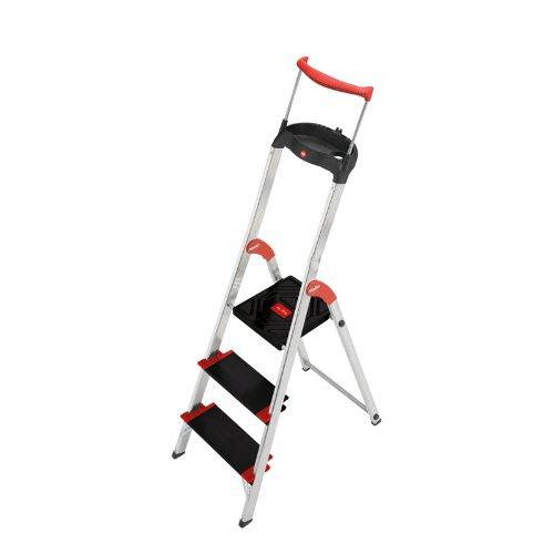 Hailo XXR 225 EASYCLIX Escalera de Tijera Aluminio, 3 peldaños