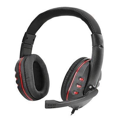 ZZSH Inline-Headset Stereo-Kopfhörer Für PS4, PC, Xbox One Controller, Mikrofon, LED-Licht, Bass-Surround-Kopfhörer-Geräusch Absage, Laptop Mac Nintendo Switch