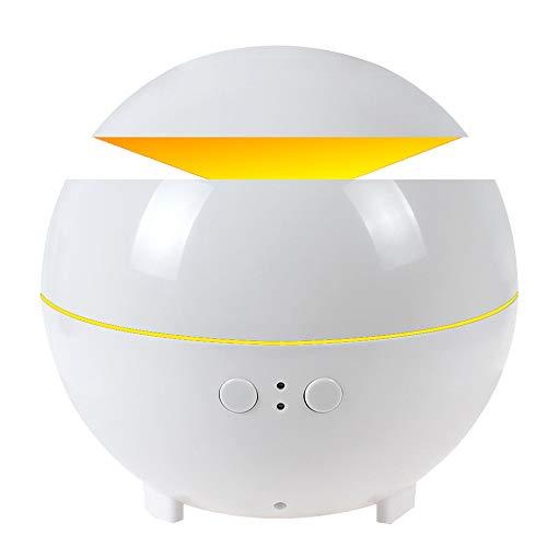 HUIHUAN Humidificador Aceite esencial Difusor 600 ml Humidificadores de niebla Máquina de aromaterapia con aroma de aire y apagado automático - Luz LED y temporizador,White