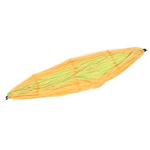 Jopwkuin Hamacas Colgantes, Prevención de Vuelcos Hamacas para Acampar Diseño Compacto Y Firme 260x140cm para Hamaca en el Suelo Camping o Mochilero(Hechizo Amarillo Fruta Verde 260 * 140)